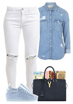 """""""Love Listening"""" by bryannilove ❤ liked on Polyvore featuring Topshop, FiveUnits, MAC Cosmetics, Goldgenie, Henri Bendel, Victoria's Secret, Yves Saint Laurent and adidas"""