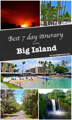 Best itinerary for the Big Island of Hawaii. Take in the Volcano and the lava, explore the beaches, the rainforest, and the waterfalls. Hawaii Honeymoon, Hawaii Vacation, Beach Trip, Vacation Spots, Vacation Ideas, Hawaii Trips, Honeymoon Ideas, Hawaii Wedding, Lanai Island