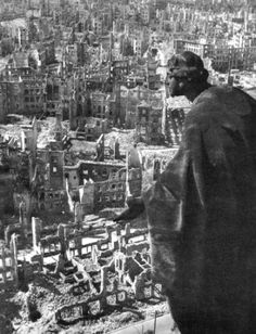 Richard Peter sen.  (1895 – 1977)  View from the Dresden City Hall Tower Toward the South in 1945