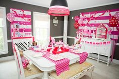 American Girl Doll Birthday Party via Kara's Party Ideas | Kara'sPartyIdeas.com #Pink #Doll #PartyIdeas #Supplies (8)