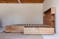 Al and Imo Custom Timber Furniture Custom Bed Frame, Diy Bed Frame, Bed Frame With Drawers, Bed Frame With Storage, Bed Drawers, Cama Design, Bed Design, Timber Furniture, Bedroom Furniture Design