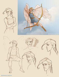 Eros doodles by Ninidu on deviantART. Tags: cupid, eros