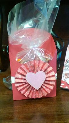 French fry box from CTMH Art Philosophy cartridge. Filled with health treats for Valentine's Day.
