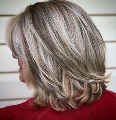 50+ Mid-Length Layered Hairstyle