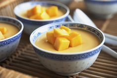 This Thai recipe for mango pudding is really easy to make - you'll have it whipped up and in the refrigerator in just a few minutes.