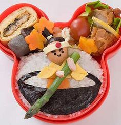 Japanese Bento Lunch  #一寸法師弁当 Issunboshi dwarf bento