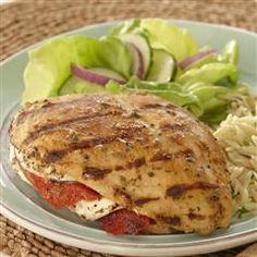 Grilled Mozzarella-Stuffed Chicken