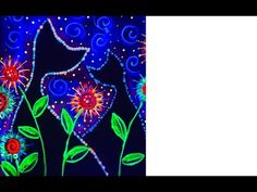 Blacklight UV painting tutorial for Glow Cats. Like the painter of light This is Cool in three light, Daylight, blacklight and nighttime. Easy Paintings For Beginners, Acrylic Painting For Beginners, Acrylic Painting Techniques, Neon Painting, Pallet Painting, Painting Art, Cute Canvas Paintings, Bright Paintings, Kunst Party