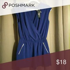 Cute Blue Romper! Blue V-neck Romper with pockets, perfect for Summer. I never got a chance to wear it. one clothing Shorts
