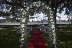 Beach wedding decorations tropical palm tree aisle runner personalized with bride and groom first names and date. Description from pinterest.com. I searched for this on bing.com/images
