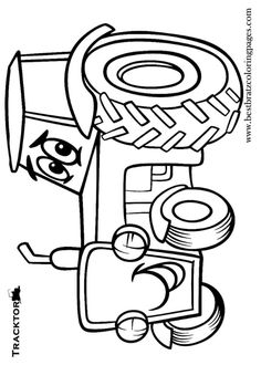 Free Printable Tractor Coloring Pages For Kids by Darras