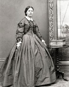 8 by 10 Civil War Photo Print Woman in Trimmed Dress.