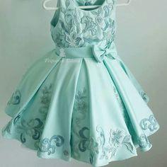 Baby Girl Party Dresses, Little Girl Dresses, Party Wear Dresses, Girls Dresses, Flower Girl Dresses, Frocks For Girls, Kids Frocks, Fashion Kids, Kids Bridesmaid Dress