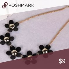 Black daisy necklace Daisy necklace Jewelry Necklaces