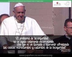 El problema de la seguridad... #PapaEnMex #PapaEnCDJ #SomosRC #RegnumChristi #Seguridad #Cárcel #Reinserción #Readaptación Papa Francisco, Socialism, Safety, Thoughts