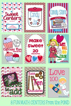 Sweet Centers - 8 Math Centers for Valentine's Day  Teaching Kindergarten