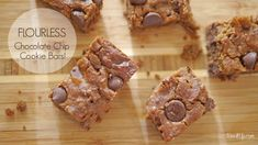 Flourless Chocolate Chip Cookie Bars!