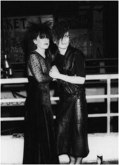 Batcave Club (in London's Soho) Goth kids, early '80s.