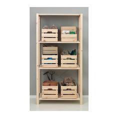 KNAGGLIG Box, pine pine 18x12 ¼x9 ¾