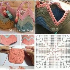 Crochet bag making - # bag # crochet # making - Taschen - Bolsas Crochet Beach Bags, Free Crochet Bag, Crochet Market Bag, Crochet Tote, Crochet Handbags, Crochet Purses, Knitted Bags, Handicraft, Crochet Projects