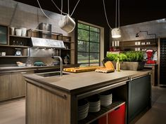 CUCINA IN FRASSINO CON ISOLA INDUSTRIAL CHIC BY L'OTTOCENTO