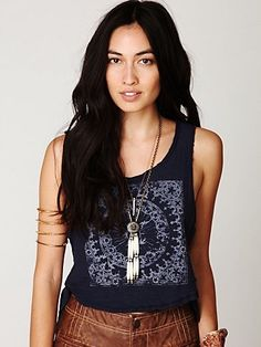 Free People Pilot Graphic Tank at Free People Clothing Boutique - StyleSays