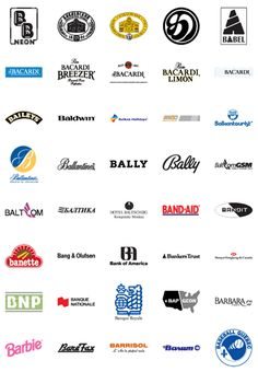 Trademarks of famous companies