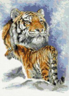Forceful - tigers cross stitch Cross Stitch Kits, Counted Cross Stitch Patterns, Cross Stitch Charts, Jungle Safari, Safari Animals, Dimensions Cross Stitch, Clemson Tigers, Ribbon Work, Crossstitch