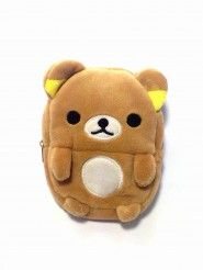 Beautifully made, super cute Rilakkuma Pouch which has a handy carabiner clip. You can use it as a mobile phone purse or mini make up pouch or anything you wish. It has a very soft skin outside and inside. Dimension : 10,2 cm x 9,5 cm x 3 cm and it's really cozy to you bring anywhere, anytime, and so much easy to put in your bag. So, what do you waiting for? Grab it now! Promo Free Shipping until 31 December 2013