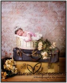 Vintage style newborn photos