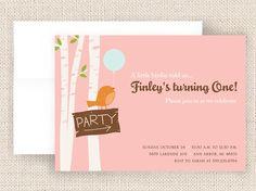 Vintage Woodland Birthday Party Invite