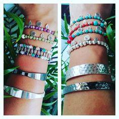 Colorful Bracelets With Silver Details 🌈 #photoshooting #handmade #crafts #jewelry #colorful #bracelets #silver #swarovski #chaoliti…