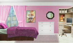 I really like this good-looking photo Fancy Bedroom, Pink Bedroom For Girls, Bedroom Night, Pink Room, Episode Interactive Backgrounds, Episode Backgrounds, Bedroom Drawing, Living Room Background, Night Aesthetic