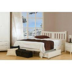 Kingfisher White Bed Frame by Sweet Dreams, wooden bed frames, bedroom ideas, bedroom design Oak Bed Frame, Solid Wood Bed Frame, Wooden Bed Frames, Wooden Beds, White Double Bed, White King Size Bed, White Wooden Bed, Under Bed Drawers, Oak Beds