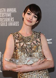Actress Anne Hathaway, winner of the #Lacoste Spotlight Award  Photo by Getty Images