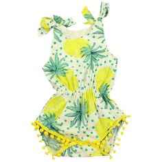 f32775b4d24 Aliexpress.com   Buy QUIKGROW 0~2 Years Cosy Soft Cotton Baby Girl Pom Pom  Romper Amazing Fruit Graphic Newborn Infant Summer Clothes NY98PF from  Reliable ...