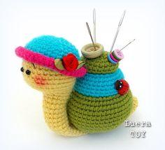Natalie el patrón de juguete caracol Crochet Amigurumi por LueraTOY
