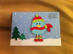 Snowy bird Christmas card