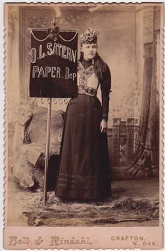 GRAFTON-NORTH-DAKOTA-Banner-Lady-Advertising-O-L-Satern-Paper-Dep-Ball-Rindahl