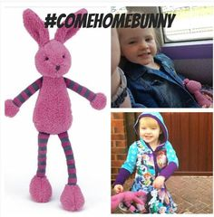 Lost on 25 Jun. 2016 @ Chester . On Saturday 25th June my 3 year old daughter lost her best friend 'Bunny' in Chester City Centre and she is so unhappy :( Dottie has had this bunny since she was about 2 months old and has literall... Visit: https://whiteboomerang.com/lostteddy/msg/ds96ci (Posted by jacqui on 27 Jun. 2016)