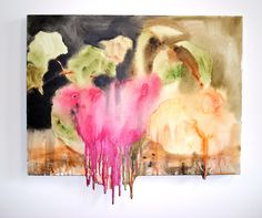 Dripping Watermelon and Peaches Valerie hegarty