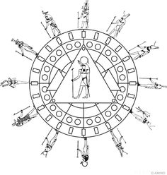 Free mandalas coloring > Tradition Mandalas > Tradition Mandala 1 - Gods of Egypt