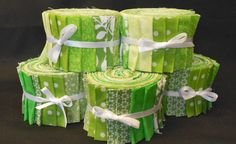 Super accurately cut jelly rolls!  Lime Green Jelly Roll Fabric Strips - Quilt Strips Jelly Roll - SEW FUN QUILTS Time Saver Quilt Kit
