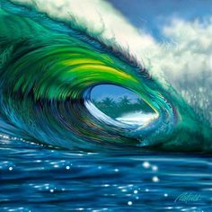 Wave art painting.