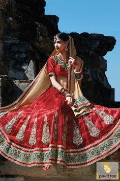 Stylish #Chiffon #Net #Red Color Wedding Lehenga Choli #lehengacholis, #bridallehenga, #weddinglehengacholi, #designerlehenga More : http://www.pavitraa.in/catalogs/online-designer-lehenga-choli-collection/?utm_source=mk&utm_medium=pinterestpost&utm_campaign=22Mar