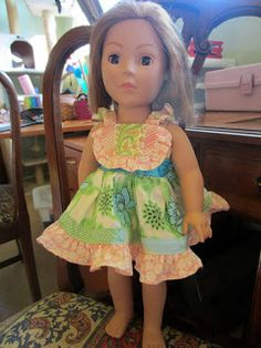 """Tutorial on how to take Millie's Flutter pattern and turn it into an 18"""" dress to match!"""