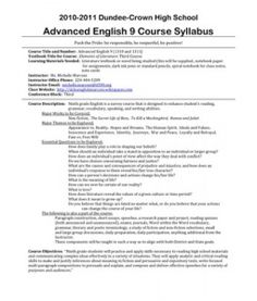 Concept-Based 8th Grade Language Arts Syllabus (supports C | Print ...
