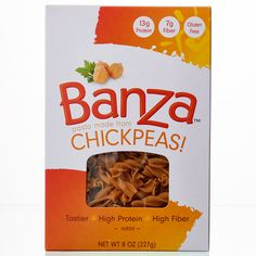 Banza Chickpea Pasta  http://www.prevention.com/food/100-cleanest-packaged-food-awards-2015-lunch-and-dinner/slide/19