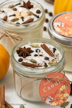 Learn how to make DIY pumpkin spice candles with soy wax and essential oils! The homemade candle tutorial includes a pumpkin spice essential oil recipe. Pumpkin Spice Candle, Diy Pumpkin, Pumpkin Candles, Oil Recipe, Recipe Tips, Recipe Art, Recipe Spice, Homemade Candles, Scented Candles