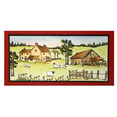 This is the gorgeous new Old Barn designed by Sharon Bennett for Hobby Art… House Mouse Stamps, Country Scenes, Project 4, Art Cards, February 2015, Man Birthday, Stamp Sets, Clear Stamps, Coloring Pages